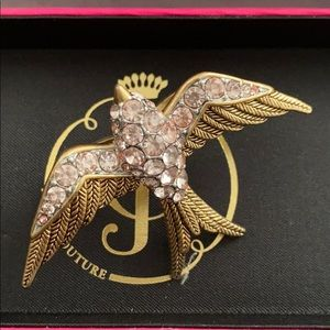 Juicy Couture Double Finger Pink Bird Ring